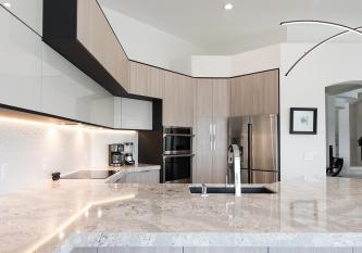 KabCo Kitchens Brilliant Miralis Cabinets and Cambria Quartz Kitchen Remodel Fort Lauderdale, Florida