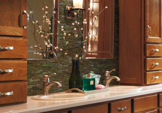 Jade Brick Tile Backsplash