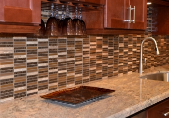 Mixed Brown Glass Mosaic