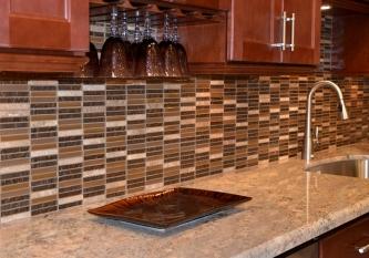 Mixed Brown Glass Mosaic
