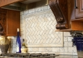 Chevron Brick Tumbled Marble