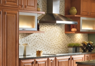 Seaweed Stone Mosaic Tile Backsplash