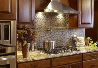 Classic Mosaic Tile Backsplash