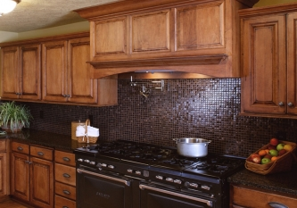 Cherry Stone Tile Backsplash