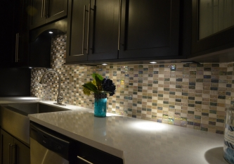 Kaki Brick Tile Backsplash
