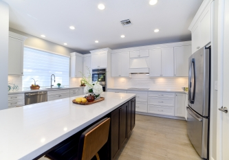 Transitional U Shaped Kitchen