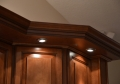 Down Lighting Built Into Molding