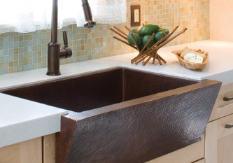 Copper Apron Front Sink