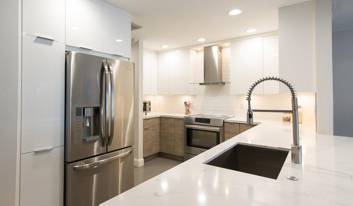 KabCo Kitchens Silverwood Milk Shake Kitchen Remodel Cabinet Design Miami