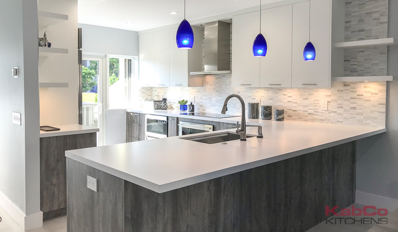 North Miami Modern Kitchen and Bar Remodel by KabCo Kitchens